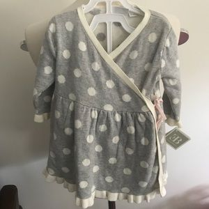 Elegant baby knit wrap dress